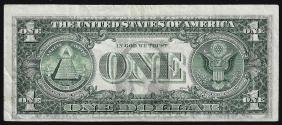 1974 $1 Federal Reserve Note Full Offset ERROR