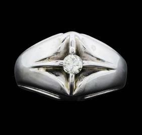 14KT White Gold Men's 0.25ct Diamond Ring
