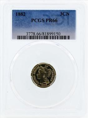 1882 Three Cent Proof Nickel PCGS PR66