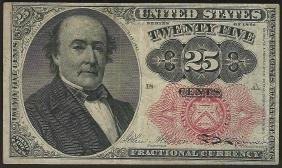 1874 Twenty-Five Cents Fifth Issue Fractional Note