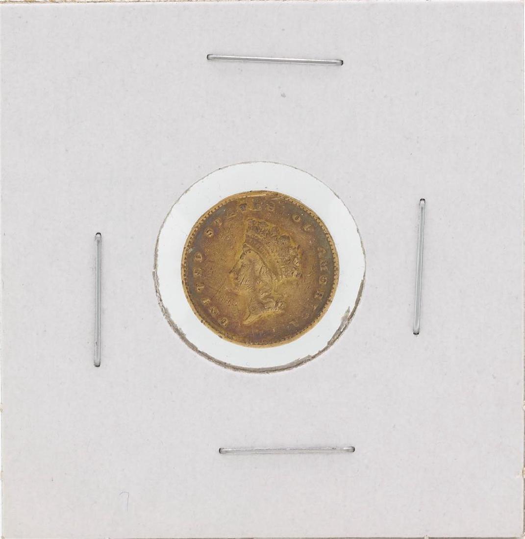 1855 $1 Indian Princess Head Gold Coin