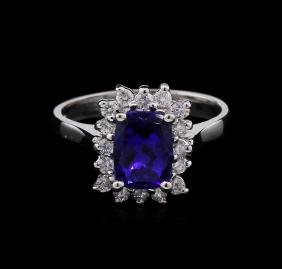 14KT White Gold 1.91ct Tanzanite And Diamond Ring