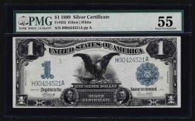 1899 $1 Black Eagle Silver Certificate Note PMG About