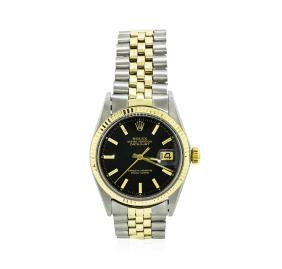Men's 14KT Yellow Gold And Stainless Steel Rolex