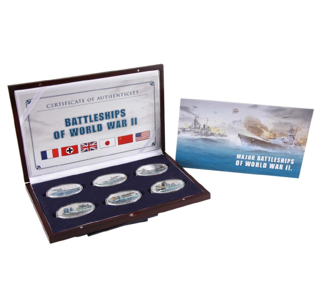 2013 $1 Oval Battleships of World War II Proof Clad