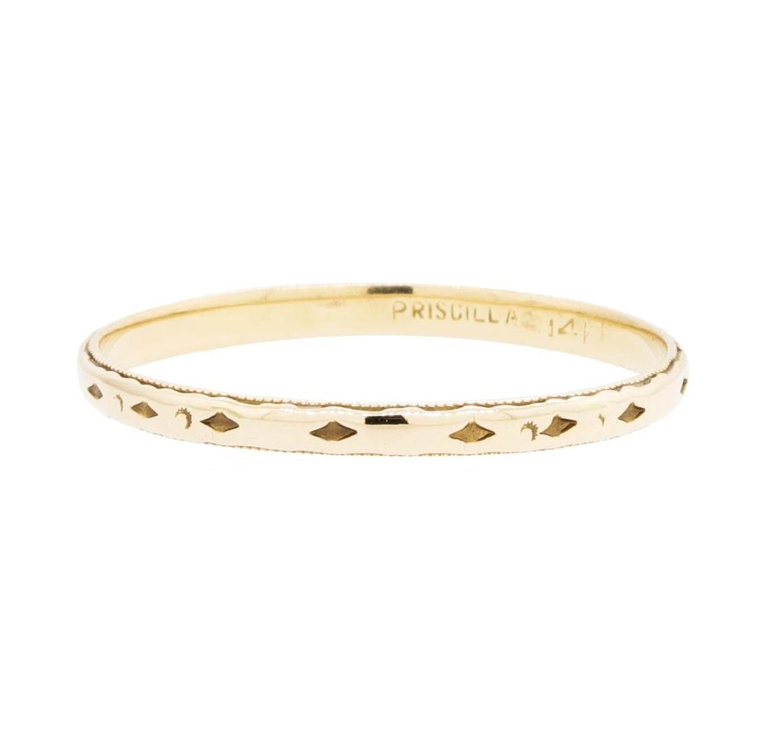 14KT Yellow Gold Band with Milgrain Detailing