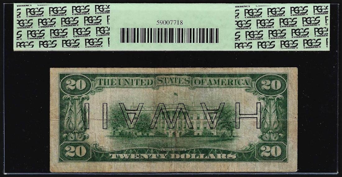 1934A $20 Federal Reserve Emergency Note Inverted