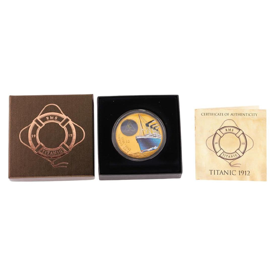 2012 $2 Titanic British Virgin Islands Bronze Coin with