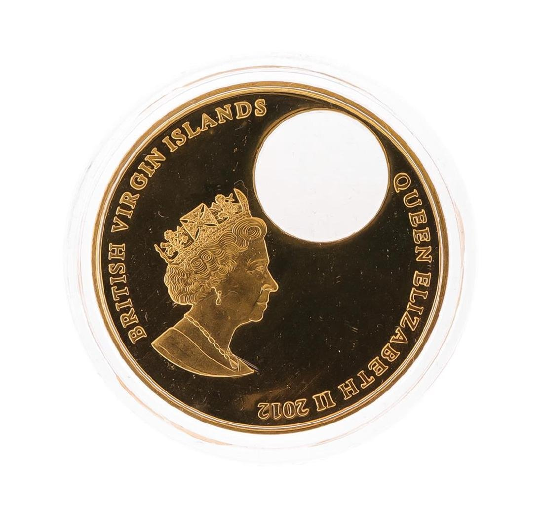 2012 $2 Titanic British Virgin Islands Bronze Coin with - 3