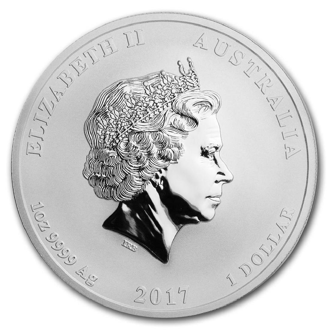 2017-P Australia $1 Dragon & Phoenix Silver Coin - 2