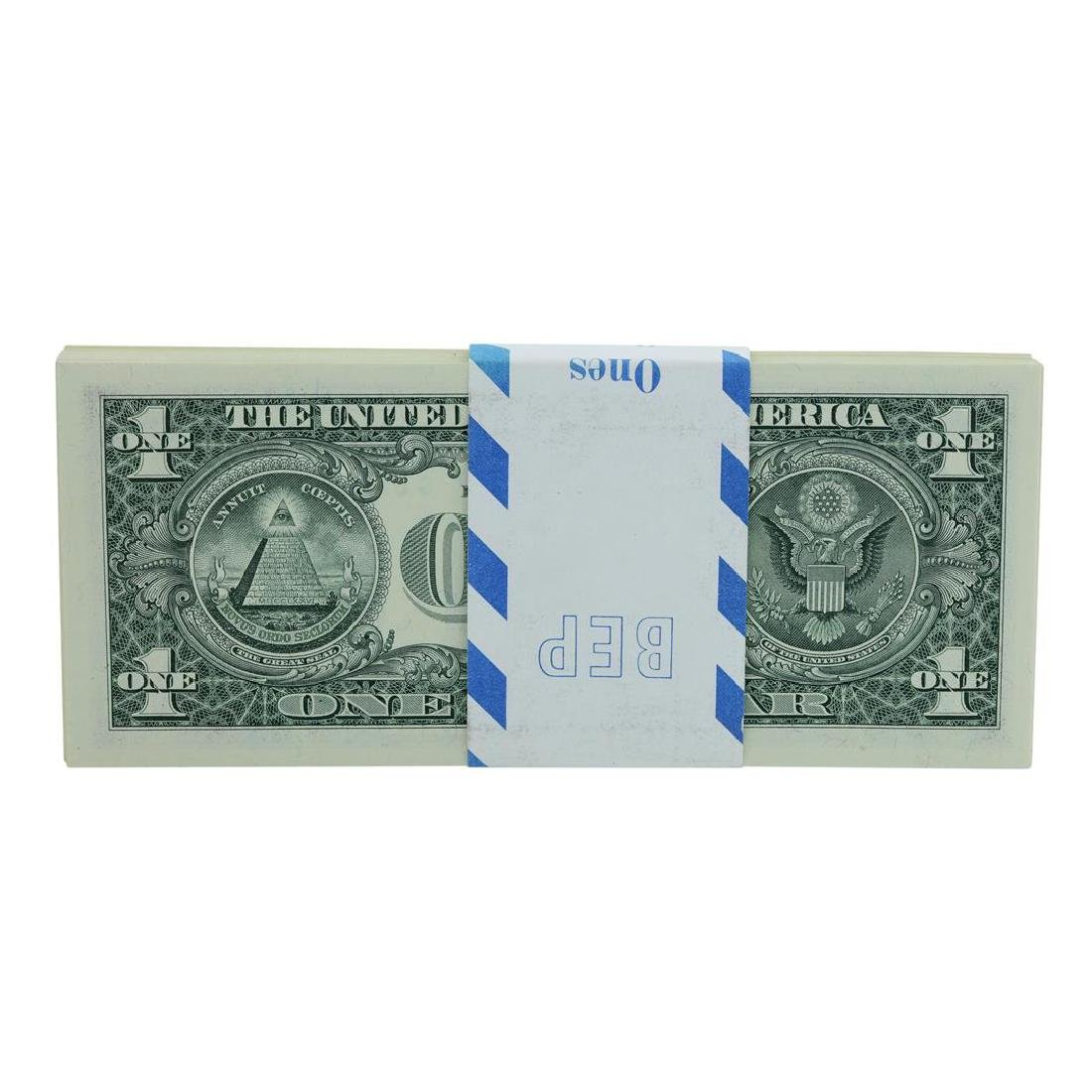 Pack of (100) Consecutive 2001 $1 Federal Reserve STAR - 2
