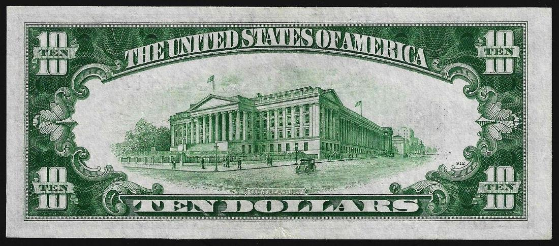 1934A $10 North Africa Silver Certificate WWII - 2