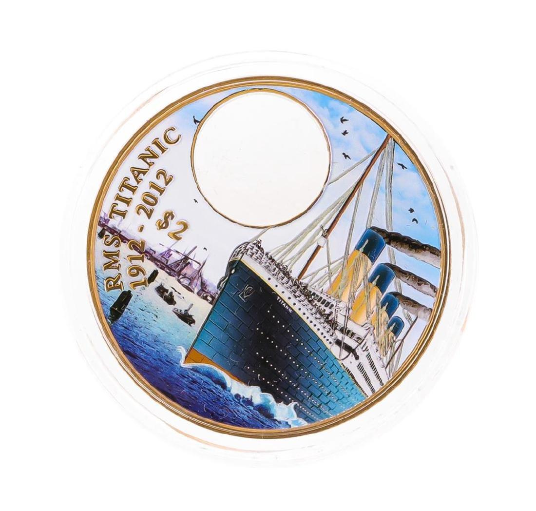 2012 $2 Titanic Day British Virgin Islands Bronze Coin - 2