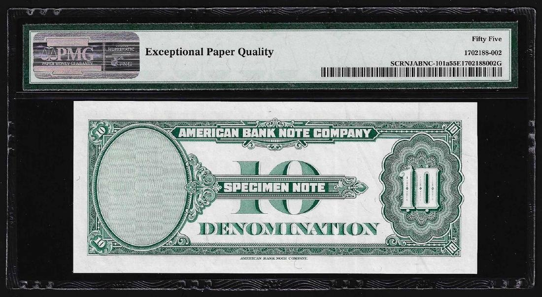 1929 American Bank Note Company Test Note 10 Units PMG - 2
