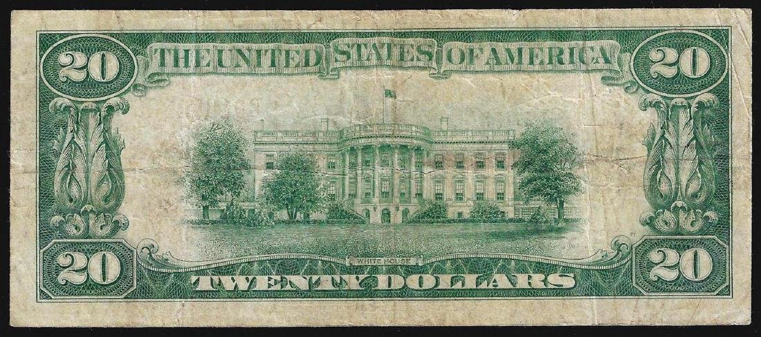 1929 $20 The Federal Reserve Bank of Chicago National - 2