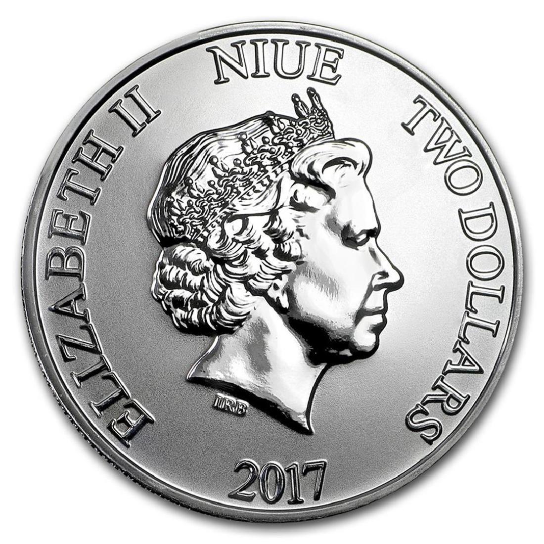 2017 Niue $2 Star Wars Darth Vader Silver Coin - 2