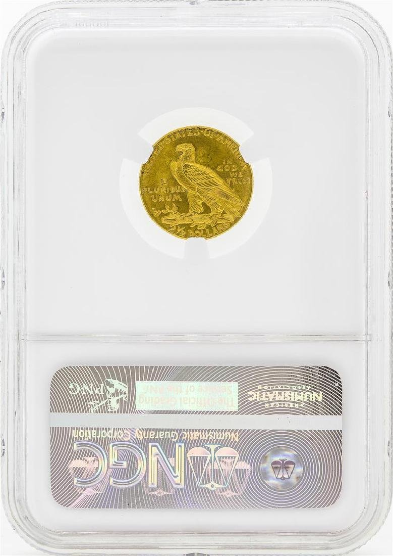 1909 $2 1/2 Indian Head Quarter Eagle Gold Coin NGC - 2