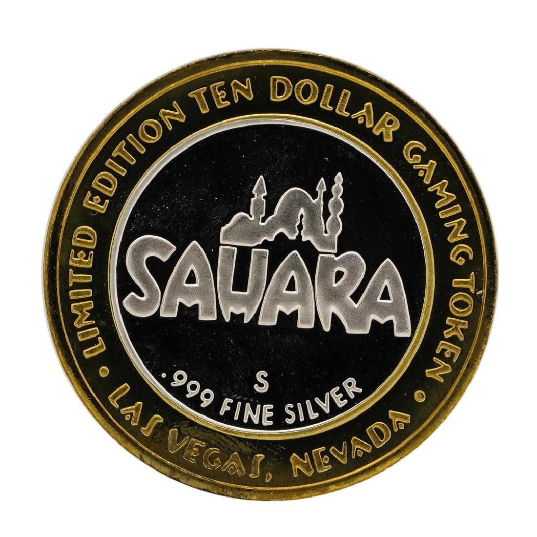 .999 Silver Sahara Las Vegas, Nevada $10 Casino Limited - 2