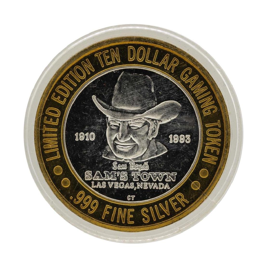 .999 Silver Sam Boyds California Hotel $10 Casino - 2