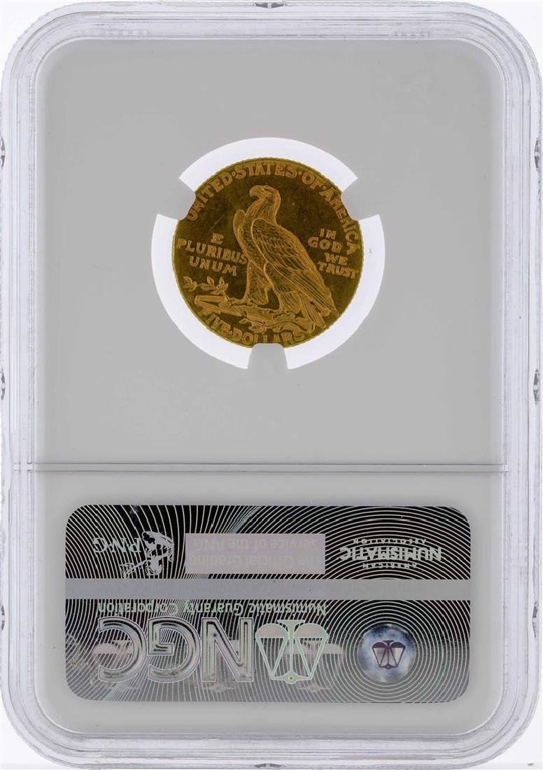 1909-D $5 Indian Head Half Eagle Gold Coin NGC MS62 - 2
