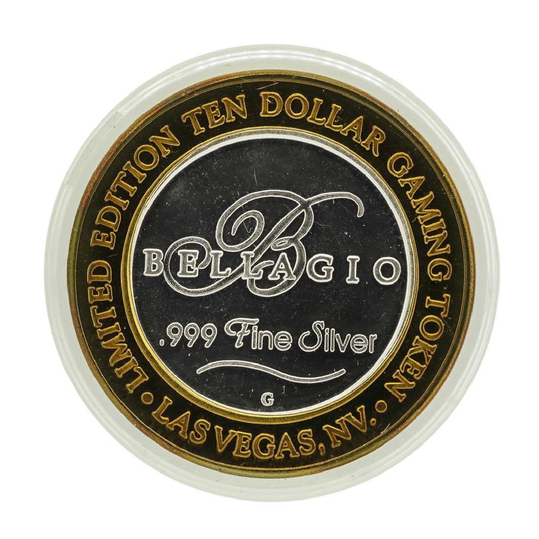 .999 Silver Bellagio Las Vegas, Nevada $10 Casino - 2