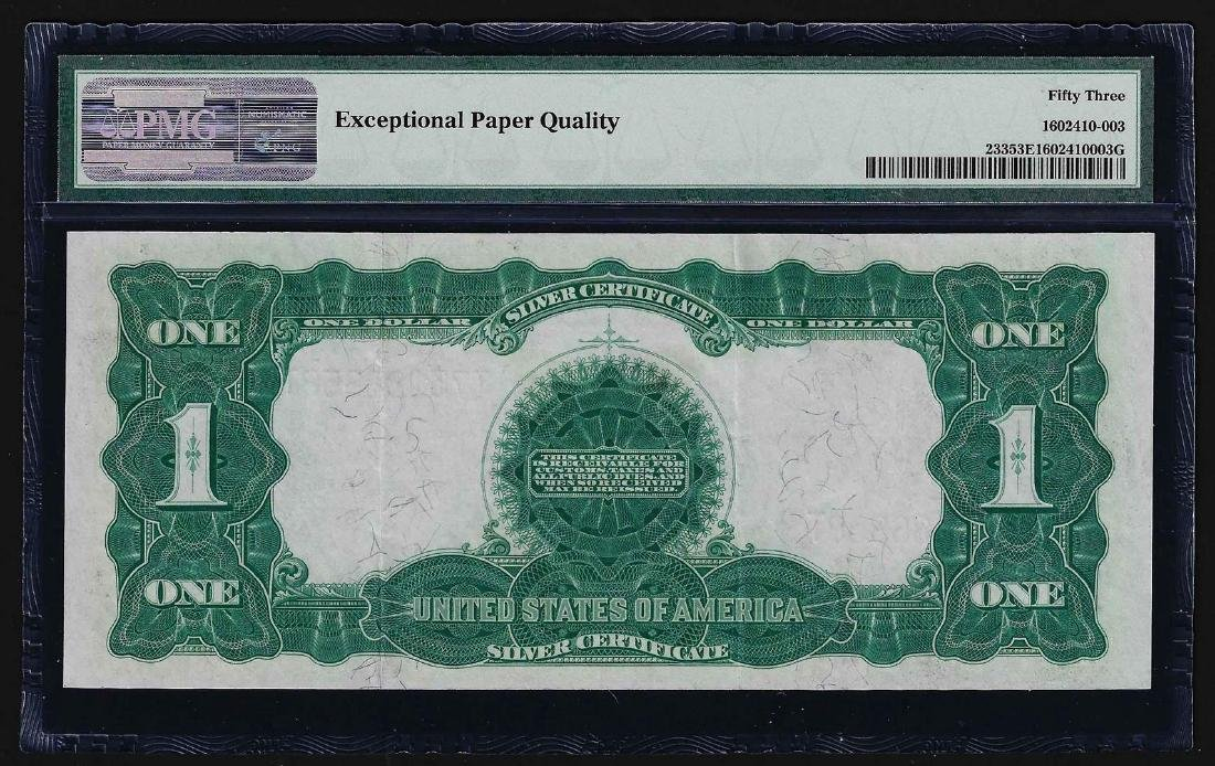 1899 $1 Black Eagle Silver Certificate Note PMG About - 2