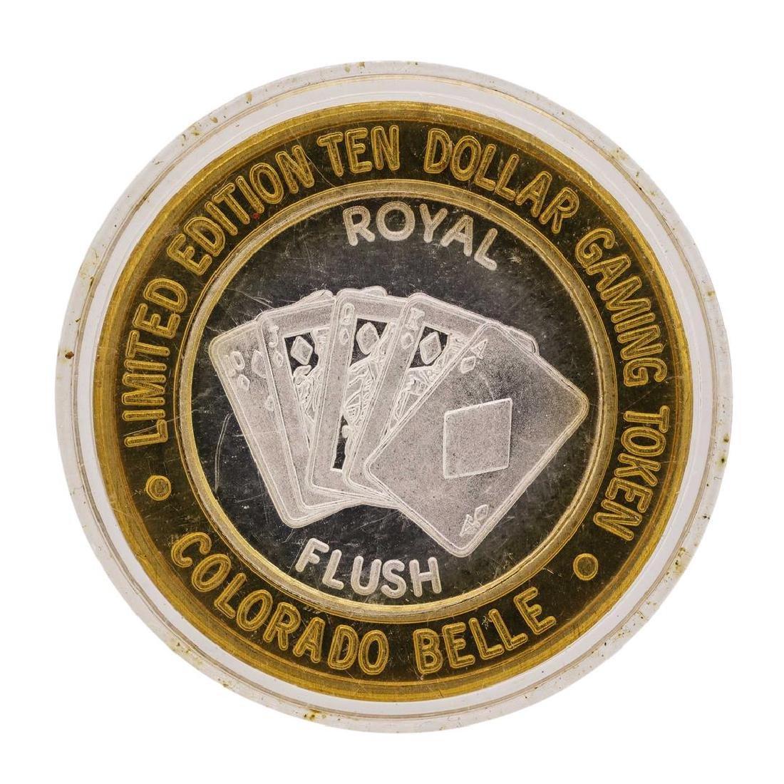 .999 Silver Colorado Belle Laughlin, Nevada $10 Casino