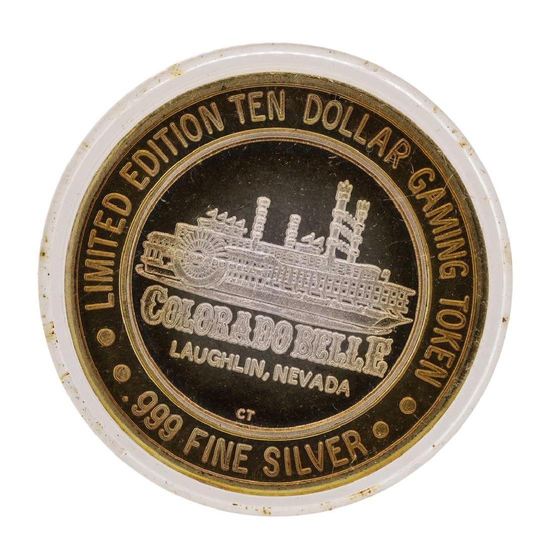 .999 Silver Colorado Belle Laughlin, Nevada $10 Casino - 2