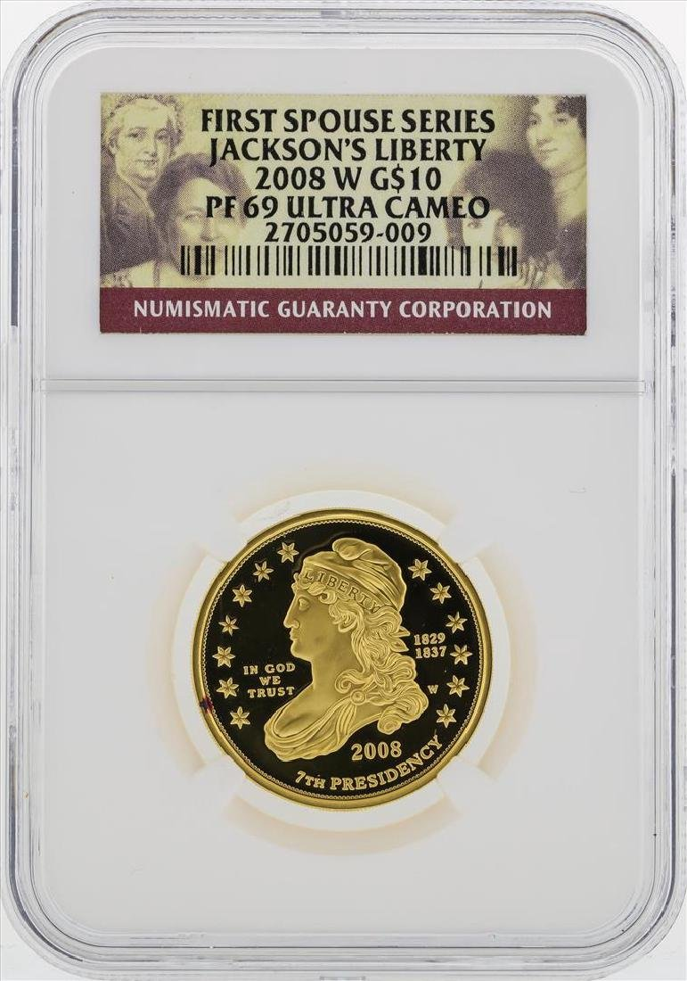2008 W $10 First Spouse Series Jacksons Liberty Gold