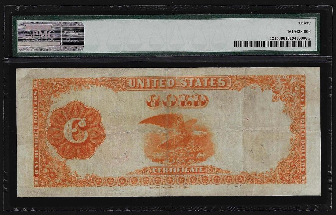 1922 $100 Gold Certificate Note PMG Very Fine 30 - 2