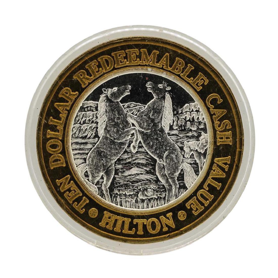 .999 Silver Hilton Reno, Nevada $10 Casino Limited
