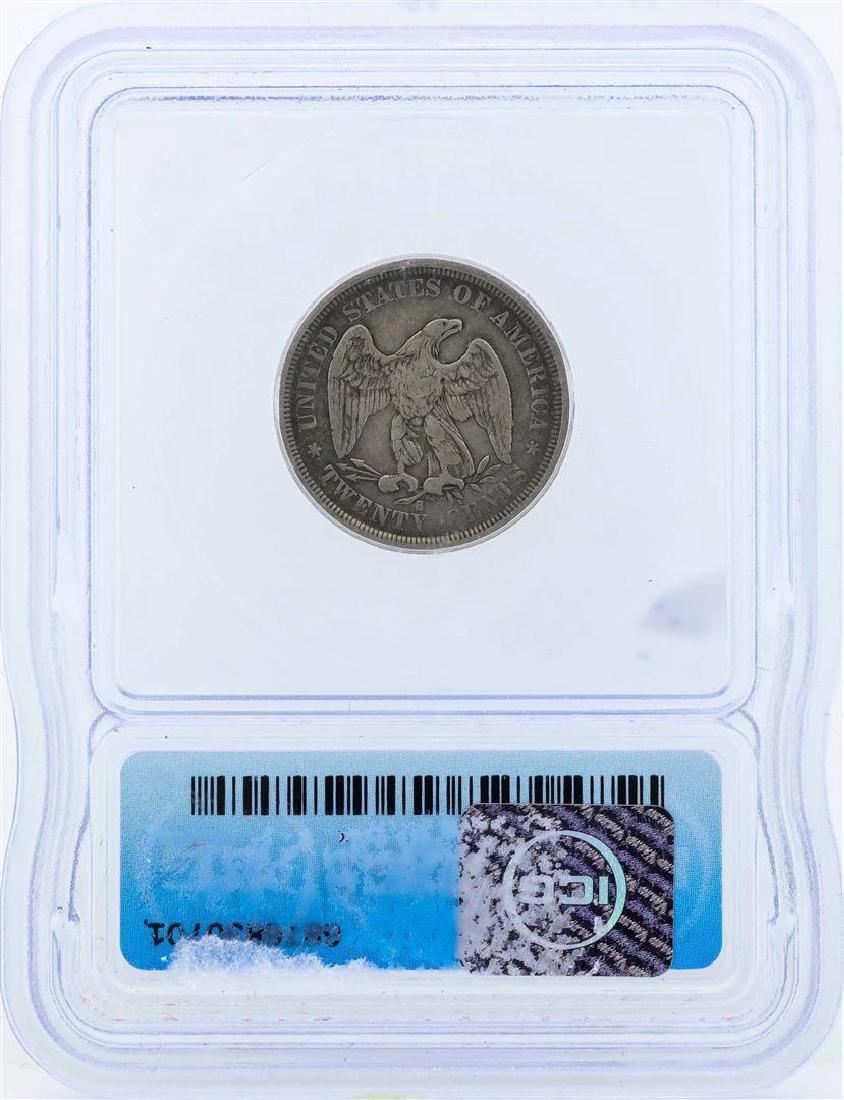 1875-S Seated Liberty Twenty Cent Piece Coin ICG F12 - 2