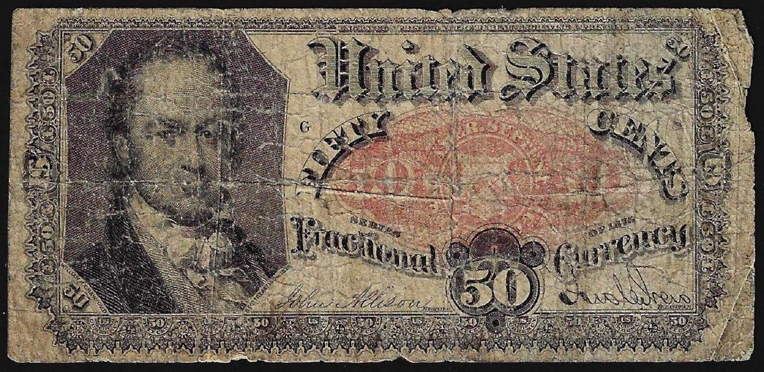 1875 Fifty Cents Fifth Issue Fractional Note