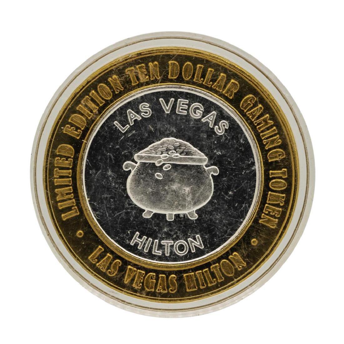 .999 Silver Las Vegas, Nevada Hilton $10 Casino Limited