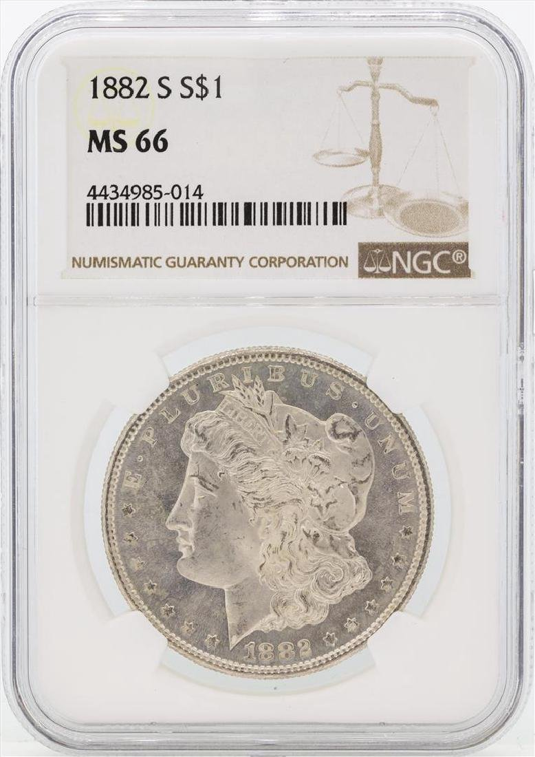 1882-S $1 Morgan Silver Dollar Coin NGC MS66