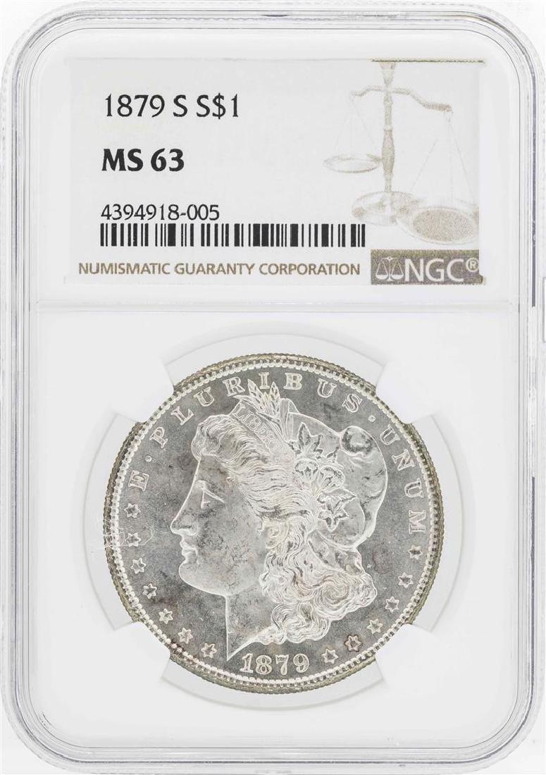 1879-S $1 Morgan Silver Dollar Coin NGC MS63
