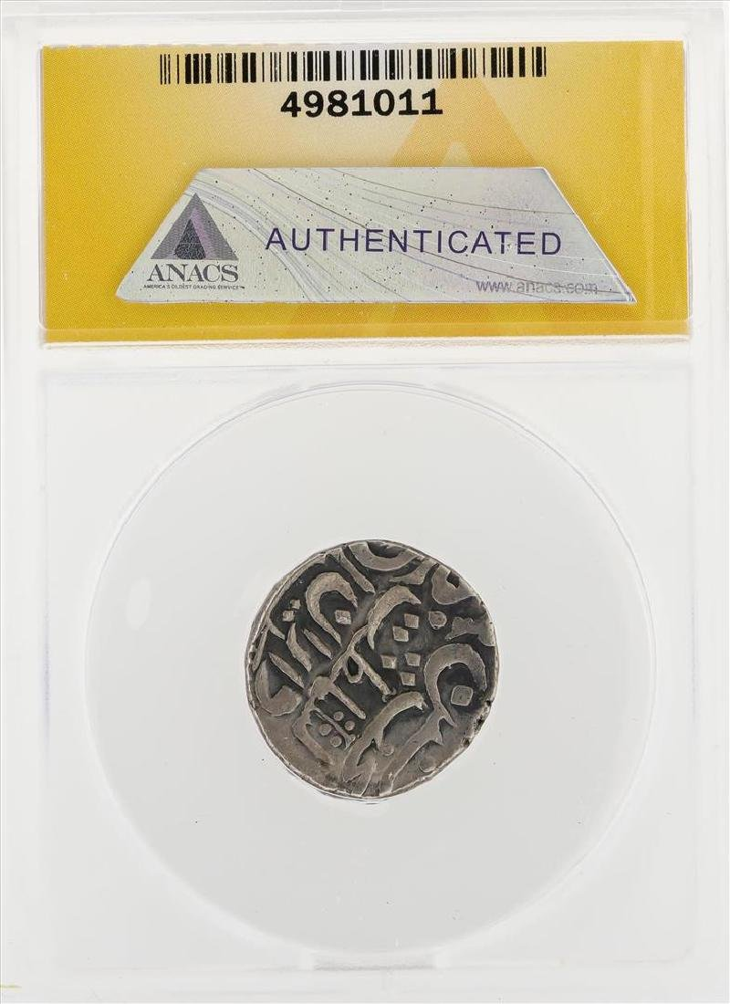 1857-1874 Rupee Alwar Sheodan Singh AR KM-37 Coin ANACS - 2