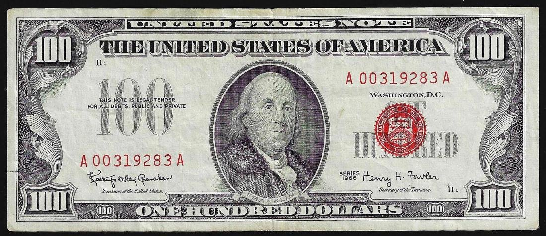 1966 $100 Federal Reserve Red Seal Note