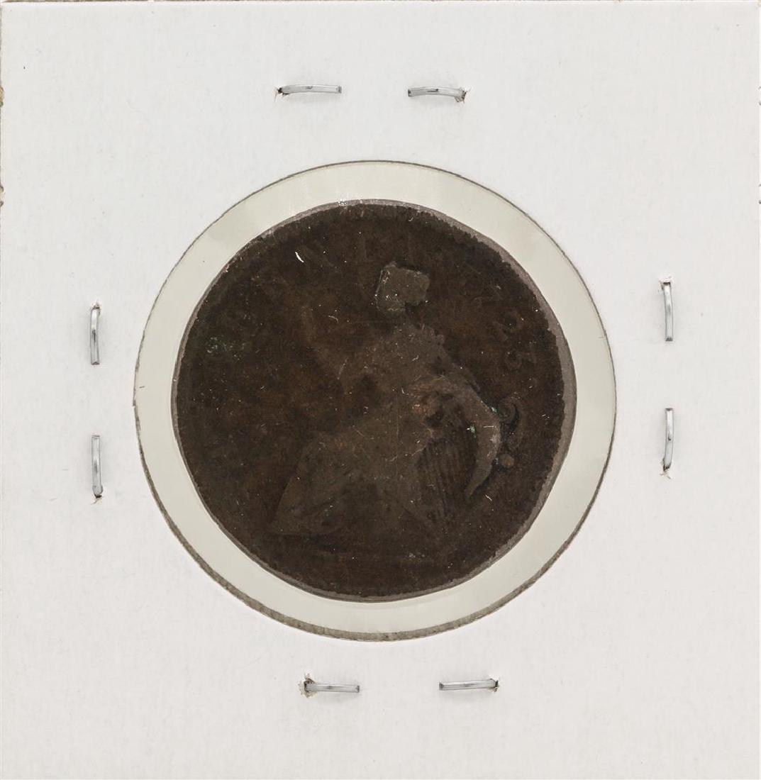1723 1/2 Penny Hibernia Colonial Copper Coin - 2