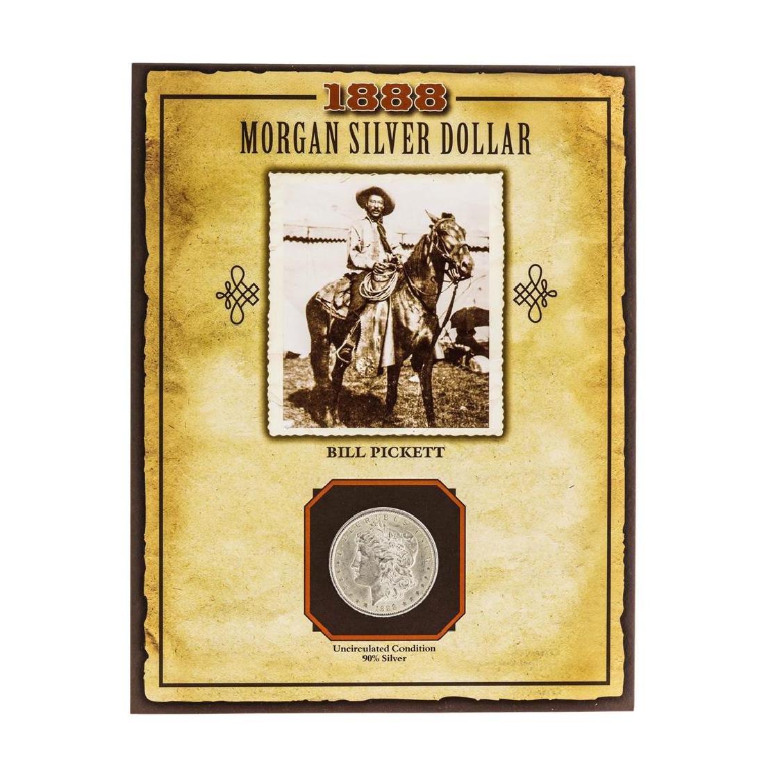 1888 $1 Morgan Silver Dollar Coin with Bill Pickett