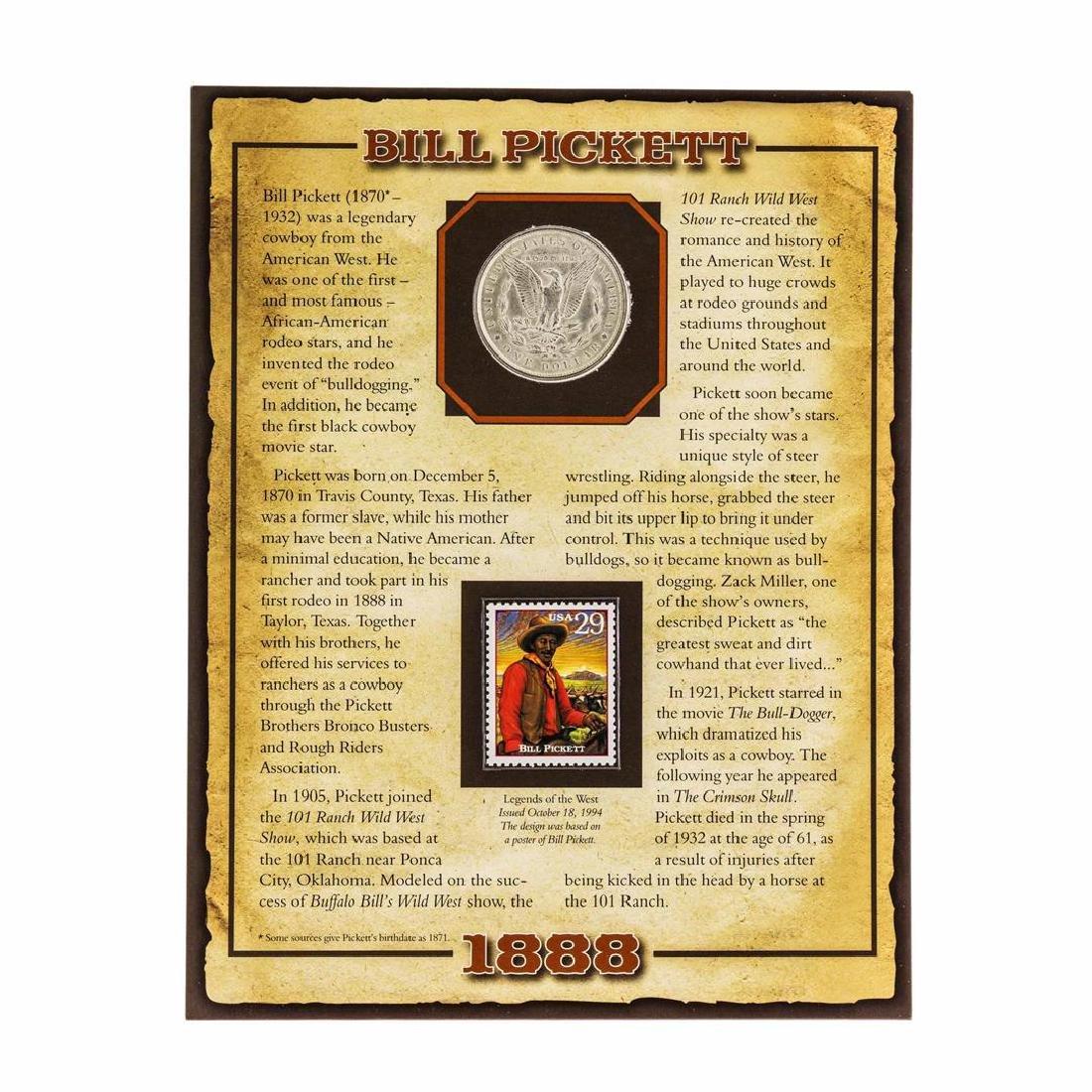 1888 $1 Morgan Silver Dollar Coin with Bill Pickett - 2