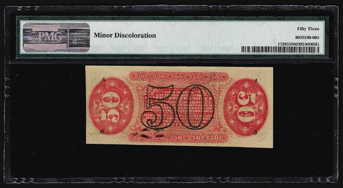March 3, 1863 Fifty Cents Third Issue Fractional Note - 2