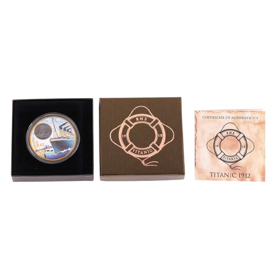 2012 $2 Titanic Day British Virgin Islands Bronze Coin