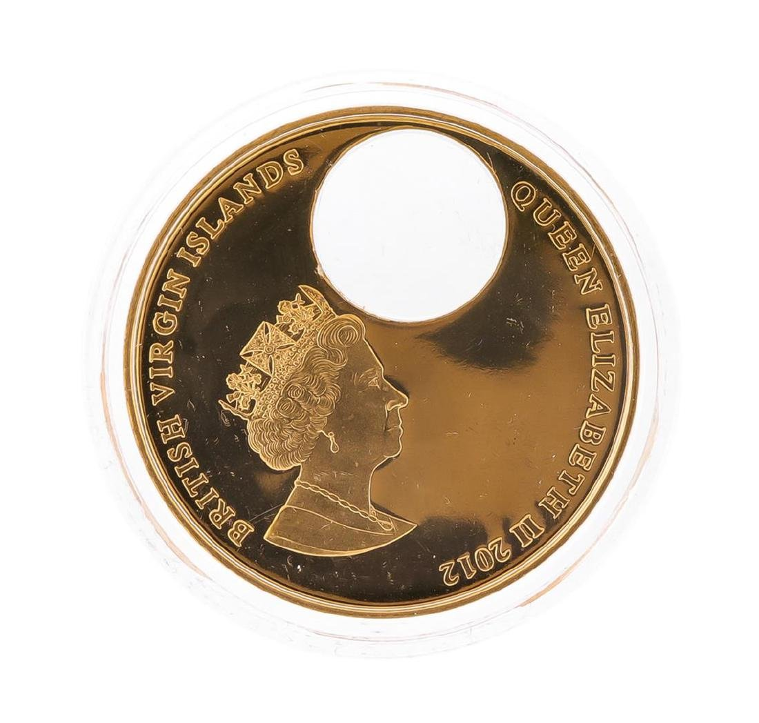 2012 $2 Titanic Day British Virgin Islands Bronze Coin - 3