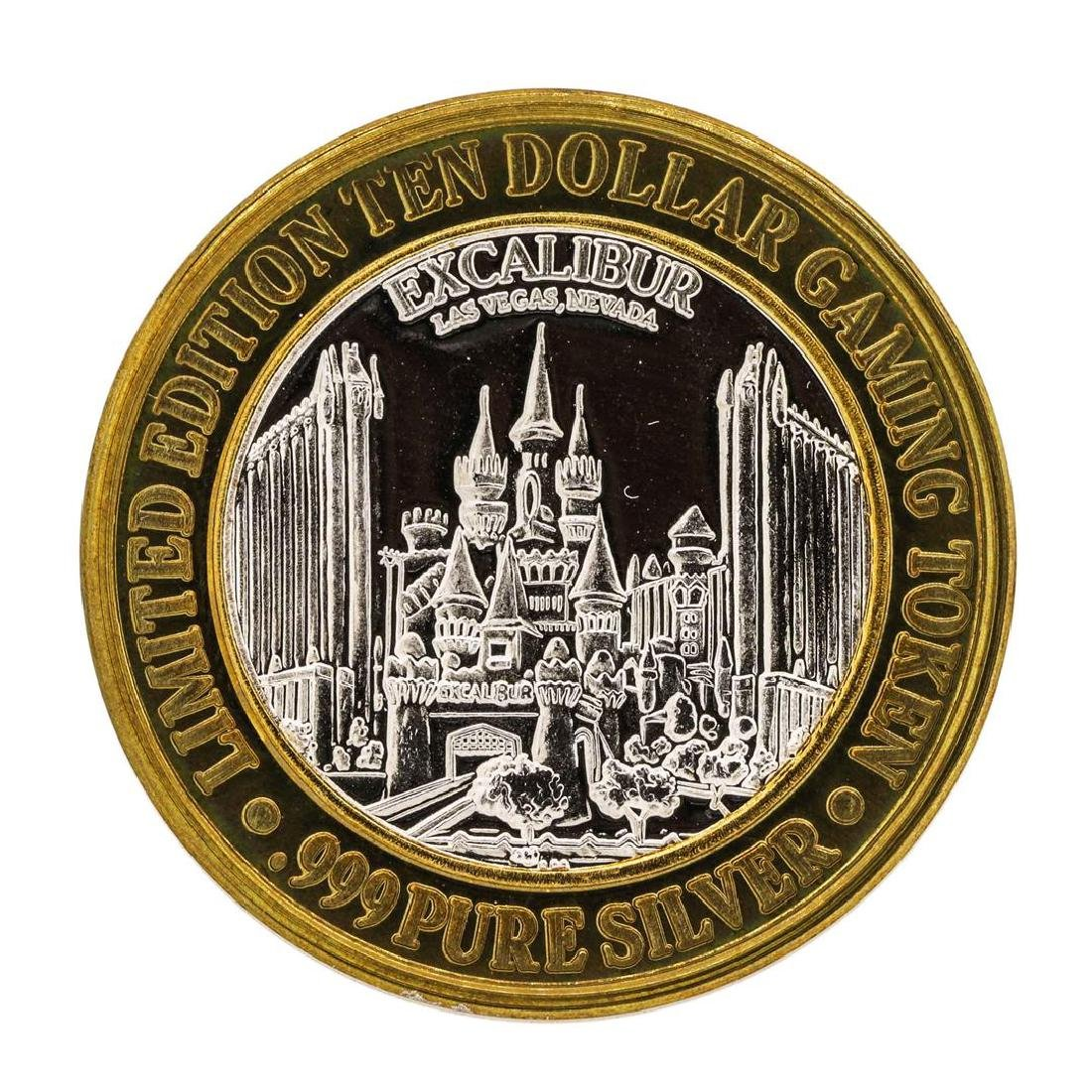 .999 Silver Excalibur Las Vegas Nevada $10 Casino - 2