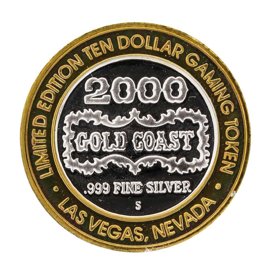 .999 Fine Silver Gold Coast Las Vegas $10 Casino Limted - 2