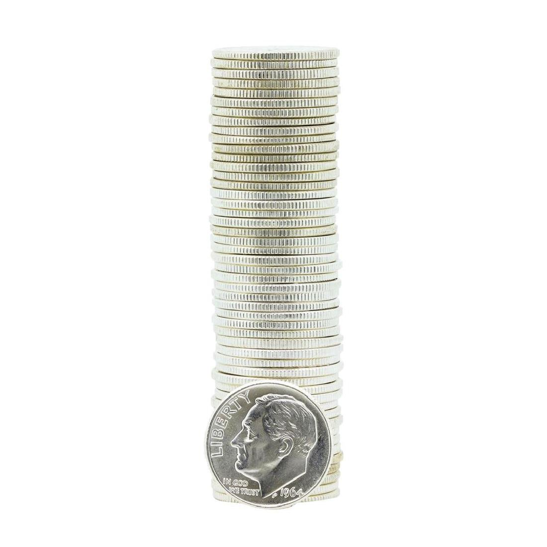 Roll of (50) 1964-D Brilliant Uncirculated Roosevelt