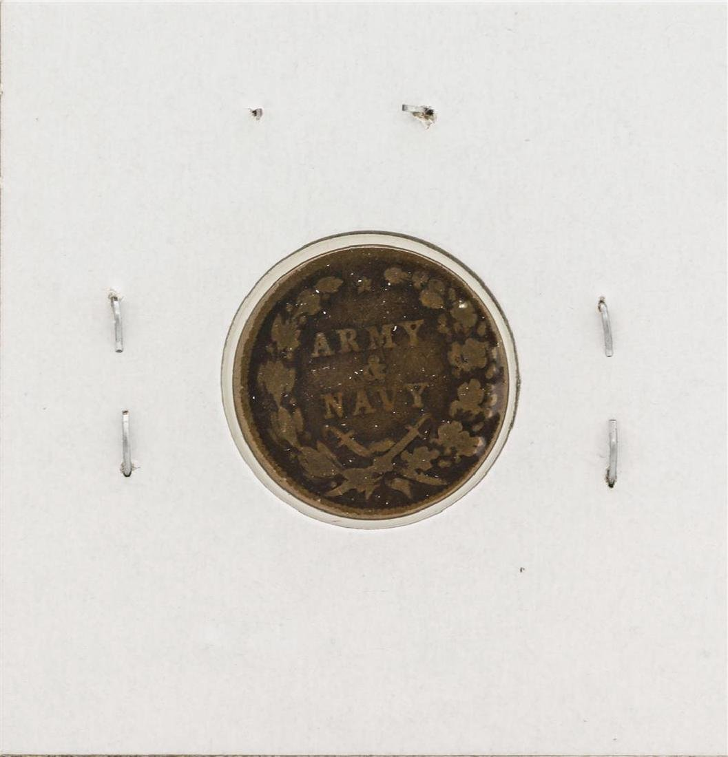 1863 Civil War Token Army & Navy - 2