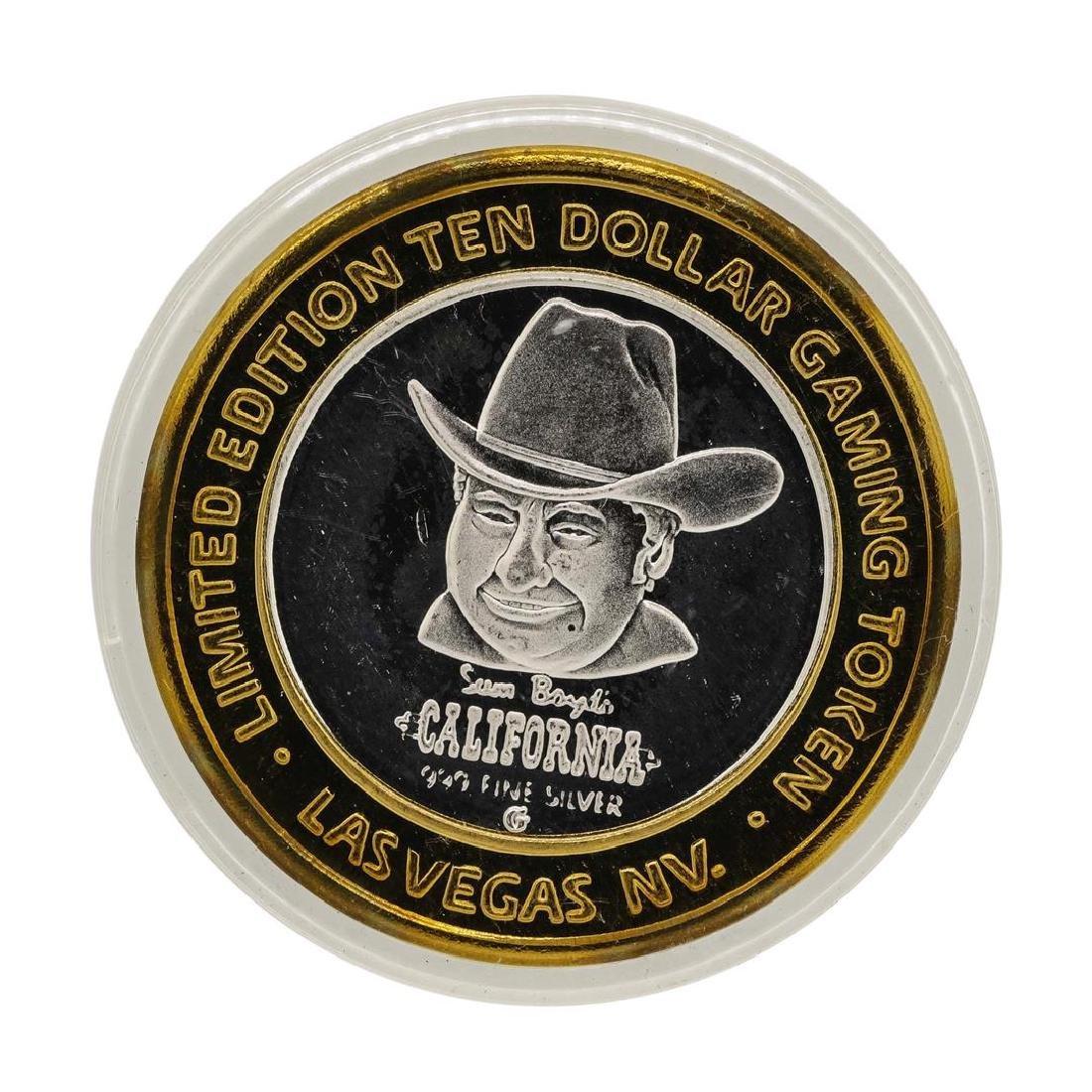 .999 Silver Sam Boyds California Hotel $10 Casino - 2