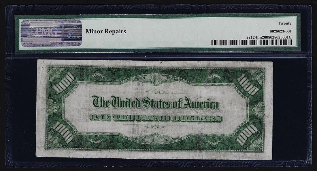 1934A $1,000 Mule Federal Reserve Note Richmond PMG - 2